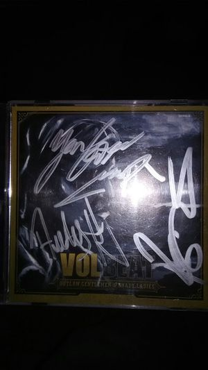 Autographed VOLBEAT CD all 4 band members signed it