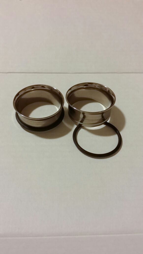 1inch stainless steel flesh tunnels with o-ring (Jewelry ...