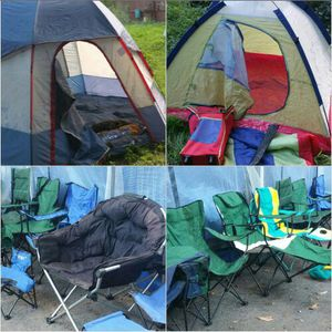 Lots of Camping tents, camping chairs and gears