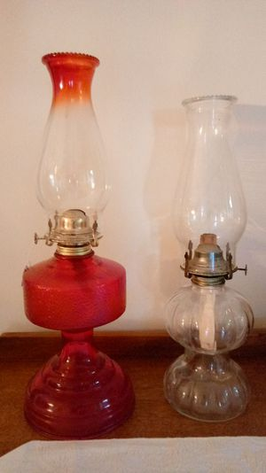 Two Older Oil Lamps