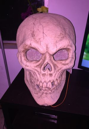 skeleton head (it's not pink)
