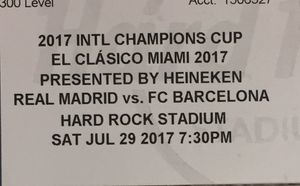 Real Madrid VS Barcelona El CLASICO MIAMI 2017