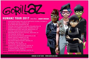 Gorillaz Humanz Tour 1 ticket at the Merriweather Post Pavilion Columbia, MD July 17 7:30 show $100 OBO