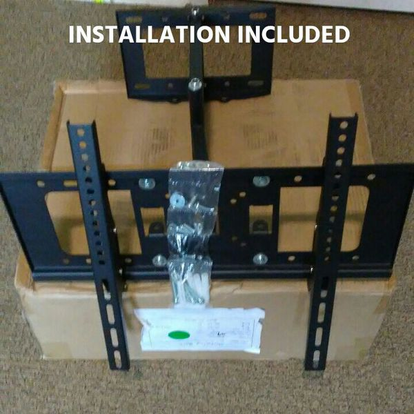 "Tv wall mount full motion universal 30 40 50 60 70 80"" LED LCD INSTALLATION INCLUDED"