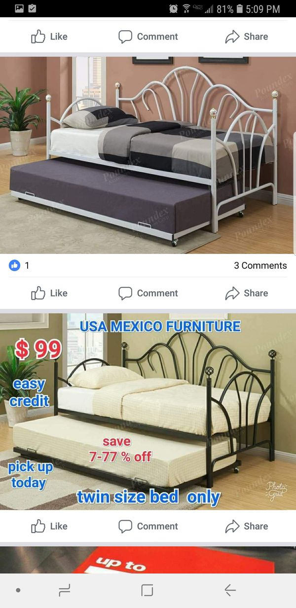 💓💓twin bed frame only add Trundle💕💕 (Baby & Kids) in Pomona, CA