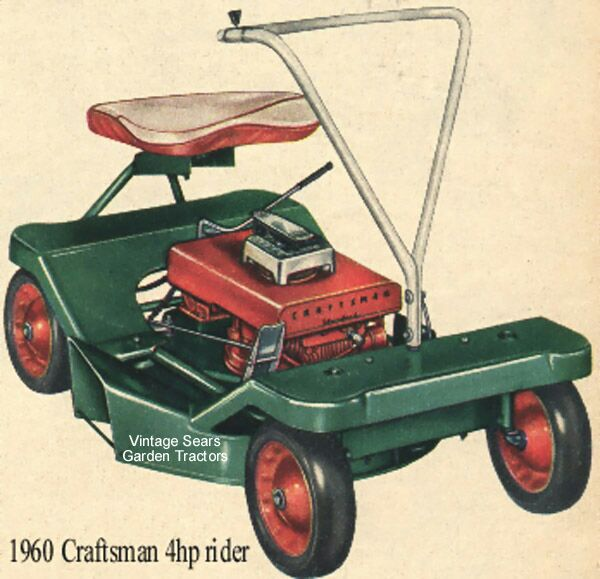 1960 Sears Craftsman Roebuck 4hp Riding Mower Home