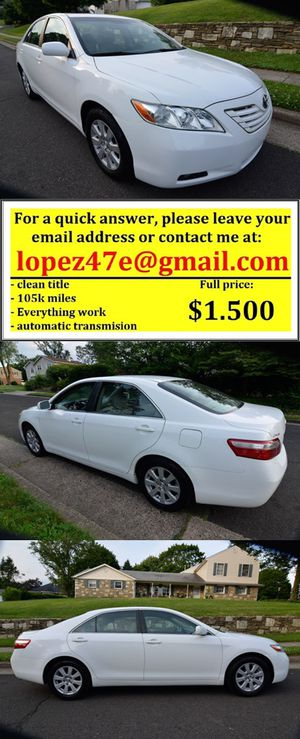 navi 2007 Toyota Camry XLE fully loaded edition