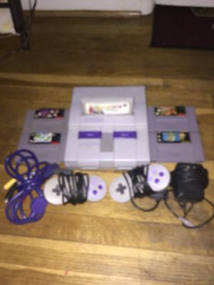 Super Nintendo snes all Wires and 5 games