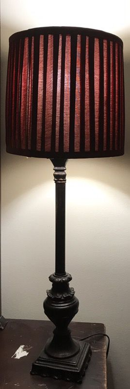 Burgundy lamp/ set of 2/ $ 30 each or $ 50 for both