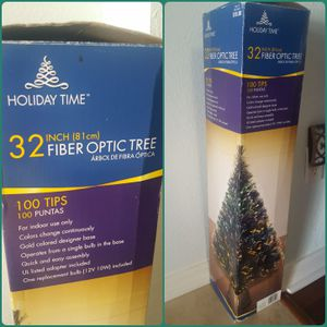 32 in Fiber Optic Christmas Tree