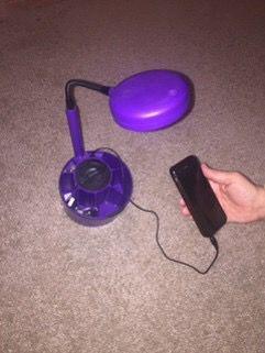 iHOME desk lamp with speaker