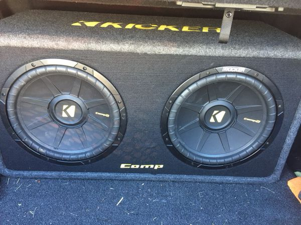 Two 12 in kicker comp subwoofers with 1200w kicker cx amp for two 12 in kicker comp subwoofers with 1200w kicker cx amp for your car sciox Image collections