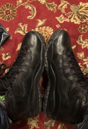 New air Jordan 10 NEW YORK CITY black gold sparkling