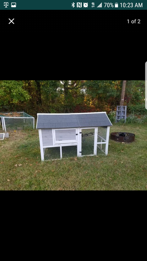 3ft x 5ft chicken coop holds up to 6 chickens