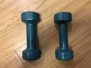 Dumbbells, set of 4lbs, total 8lbs