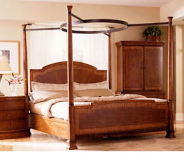 Cherry king poster bed 9 pieces furniture in henderson for Furniture 89014