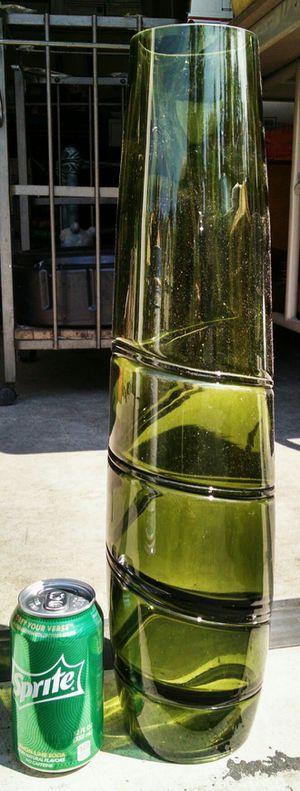 Tall Green Glass Vase