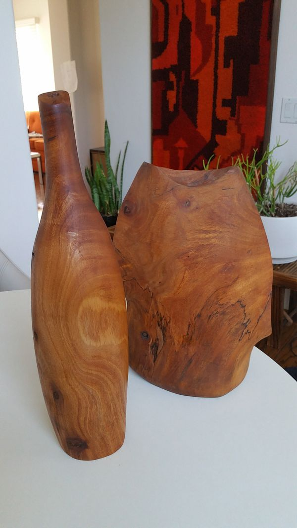 Artisan Avocado Wood Candle Holders. Artisan Avocado Wood Candle Holders  Furniture  in La Jolla  CA