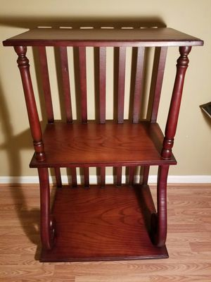 Mahogany 3 Tier Bookshelf