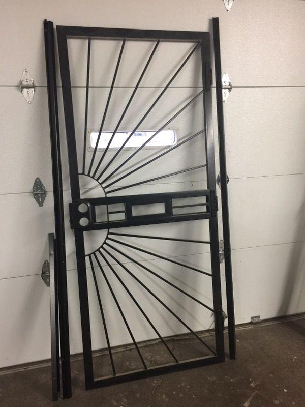36 x 84 sunburst steel security door brand new with mail slot steel 36 x 84 sunburst steel security door brand new with mail slot steel frame included planetlyrics Images