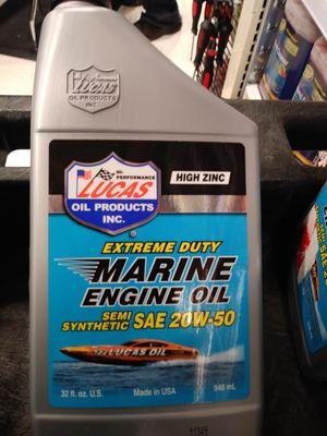 LUCAS MARINE MOTOR OIL. ONLY 4 left in stock