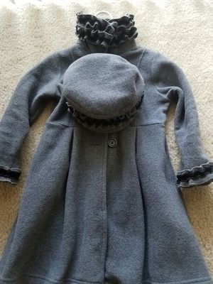 Wool jacket for Girls with matching hat