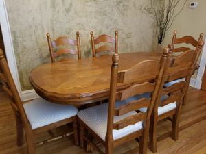 New and used dining tables for sale in chicago il offerup dining table table wood six chairs brown sxxofo