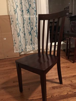 Wooden chair $10 each, 6 chairs available