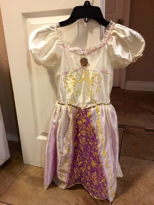 Disney tangled rapunzel wedding dress costume baby kids for Where can i sell my wedding dress locally