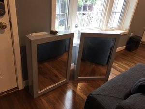 Set of two wall mount Cabinet Mirrors new