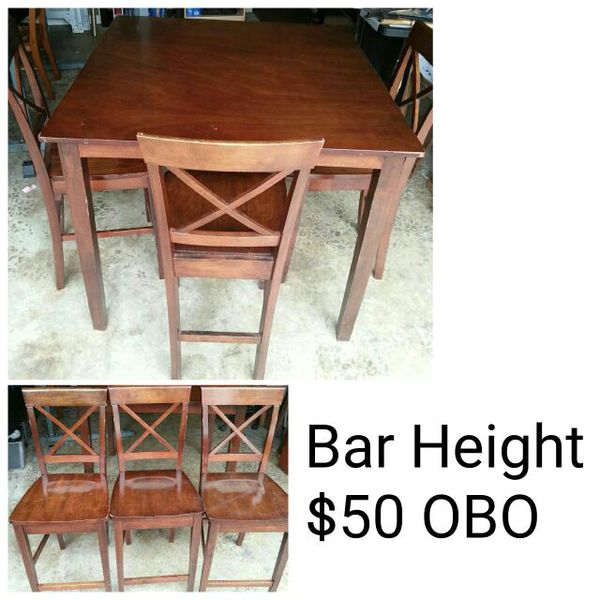 Bar height table furniture in seattle wa offerup