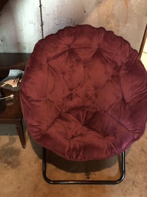Purple futon chair