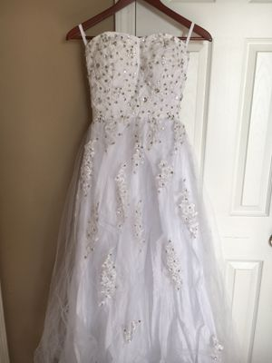 New and used wedding dresses for sale in springfield mo offerup strapless wedding dress junglespirit Images
