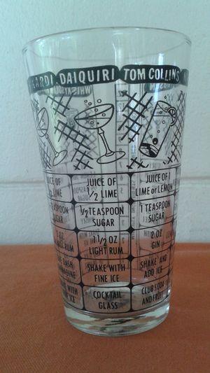 Vintage Bar Recipe Glass Tumbler