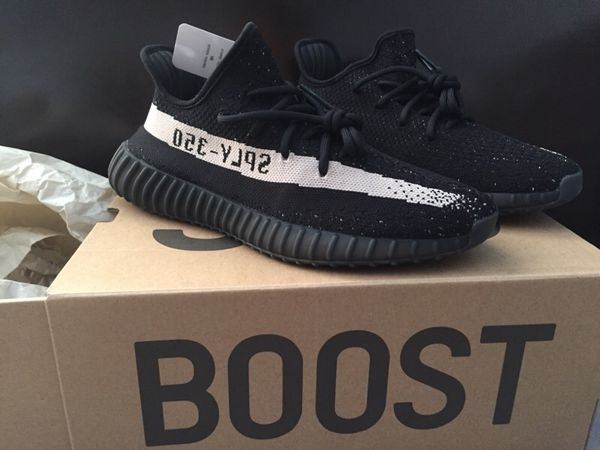 Yeezy 350 Boost V2 SPLY Cblack Cwhite Size 10 with Box
