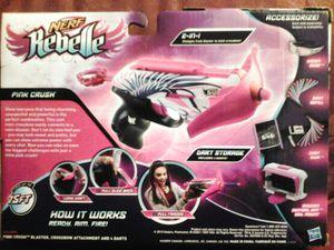 Nerf Rebelle Pink Crush W/detachable crossbow arm