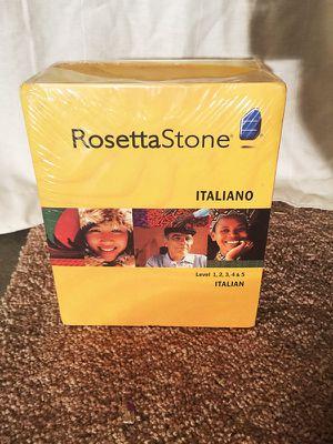 Rosetta Stone Italian all 5 levels