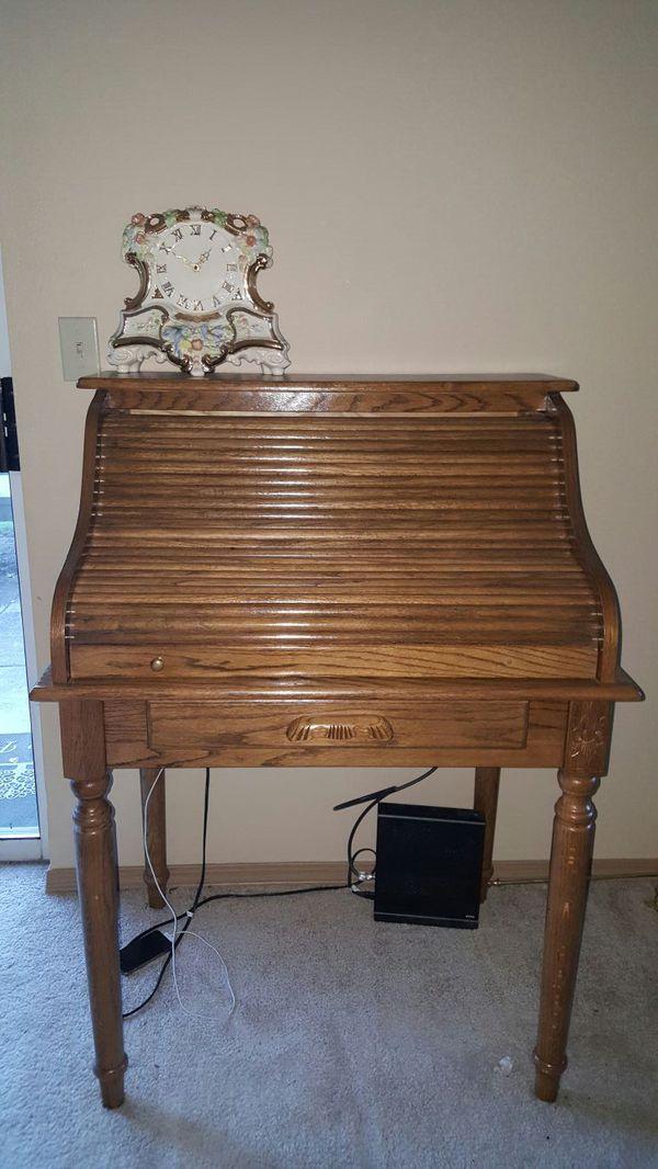 antique roller top desk furniture in redmond wa offerup