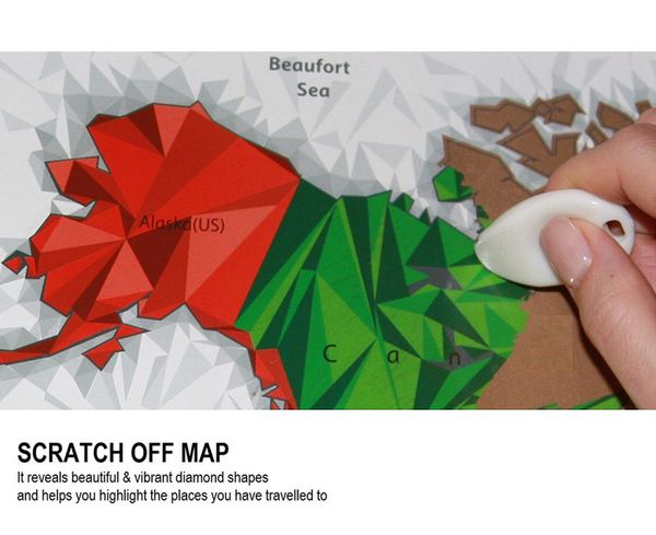 Unique diamond scratch map large world map poster wall art unique diamond scratch map large world map poster wall art posters with scratch off tool travel tracker map print or scratch off world map post arts gumiabroncs Gallery