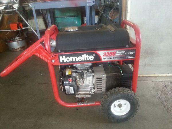 Homelite 3500 Watt Gas Generator With Subaru Motor Tools