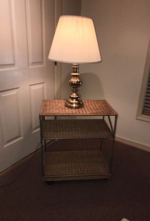 Rolling cart and lamp