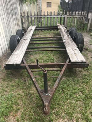 Car trailer double axle with electric brakes. OBO