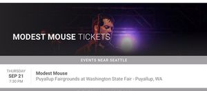 Modest Mouse Tickets - WA State Fair 9/21/17