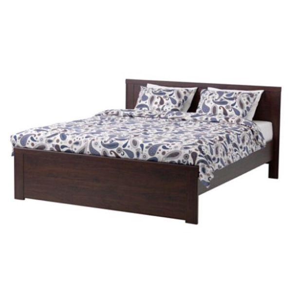 Ikea brusali queen bed frame drawers furniture in for Ikea tukwila wa