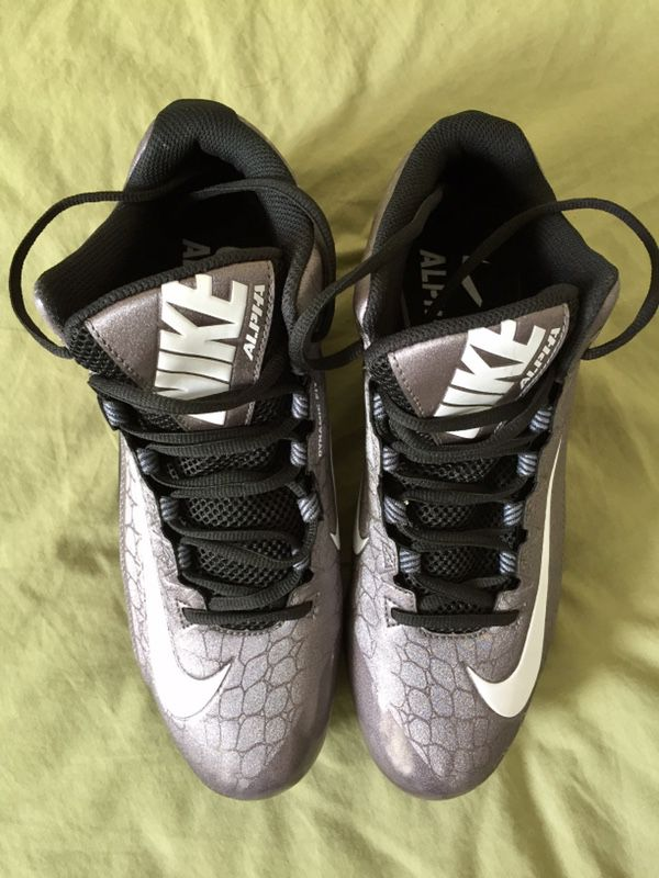 Nike Alpha Strike 2 3/4 D Black Gray Football Cleats Mens Sizes 11.5, 13,  14 or 15 NEW (Sports & Outdoors) in Tempe, AZ