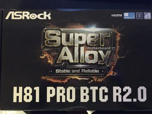 Motherboard for mining Asrock H81 PRO BTC R2.0