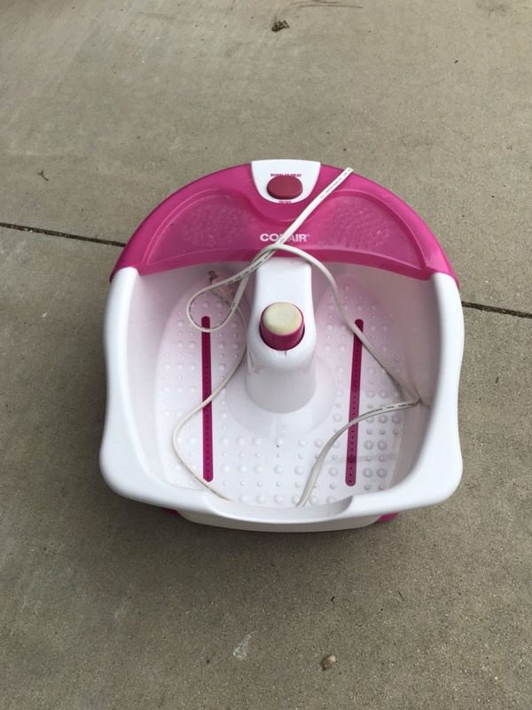 Conair Foot Spa With Bubbles, Massage And Heat Pink/White Model ...