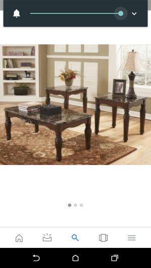 Signature Design By Ashley T533 13 North Shore 3 Piece Table Set Dark