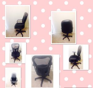 2 office chairs and 1 office desk