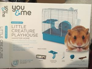 Small Hamster Cage with Extras!